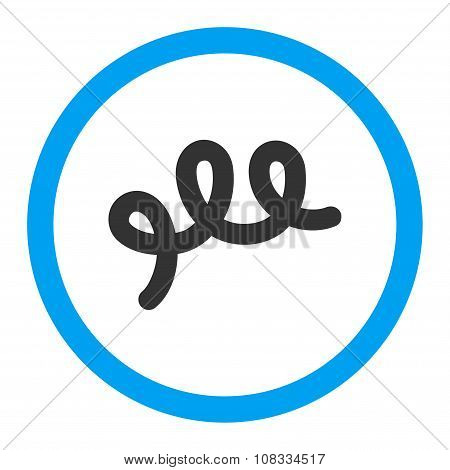 Spiral Bacillus Rounded Glyph Icon