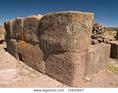 Sillustani ancient Funeral Towers in the Andes, Peru poster