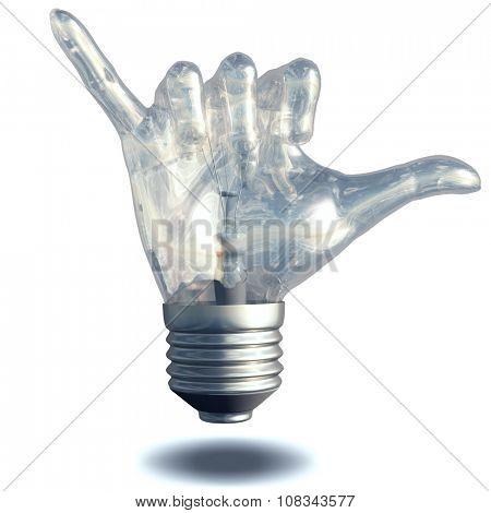 Hang Loose Gesture Light Bulb poster