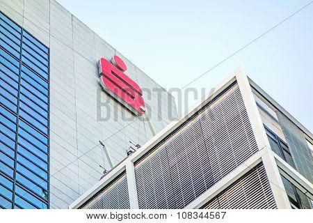 German Banks - Sparkassen Logo / Sign On Building Facade