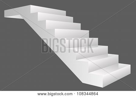 Vector stairs isolated on gray background