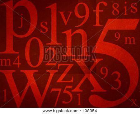 Letters And Numbers Mix
