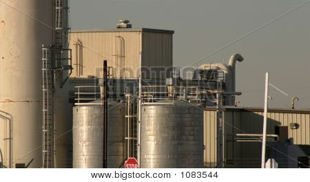 Paint Factory Chemical Tanks