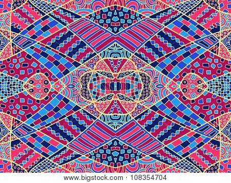 Zentangle Abstract Background Colorful 3