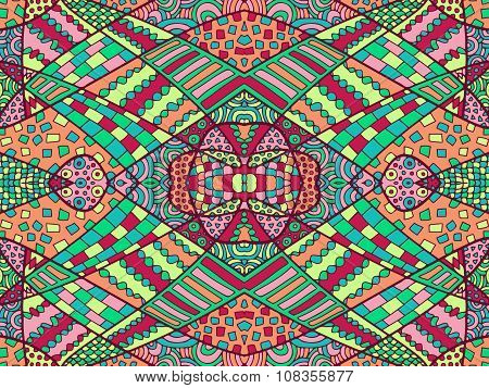 Zentangle Abstract Background Colorful 4