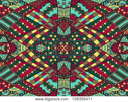 Zentangle Ethnic Background Colorful 1