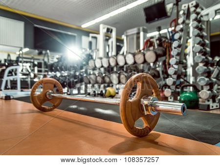 weight in gym room close up horizontal photo