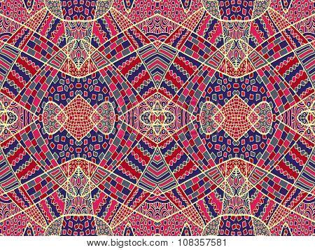 Zentangle Ornament Retro Background 2