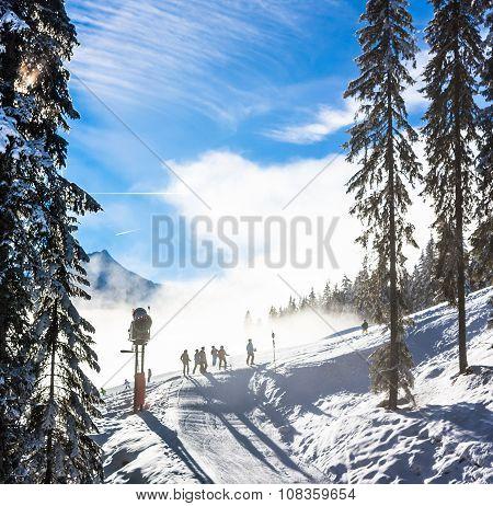Mountains ski resort in Austria