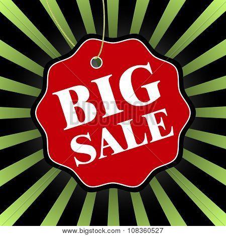 Black Friday Big Sale Badge. Vector Illustration.