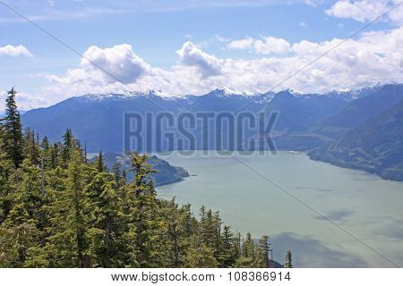 Coastal mountains above Squamish in British Columbia poster