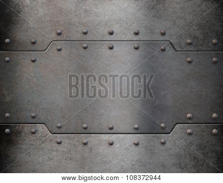 metal armor plate background