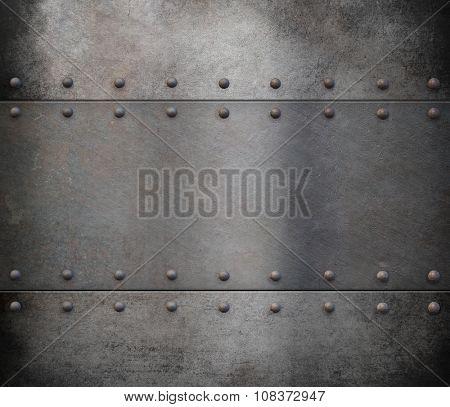 steam punk metal armour background