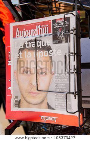 Abdasalam Salah Suspected Terrorist On Aujord'hui Cover