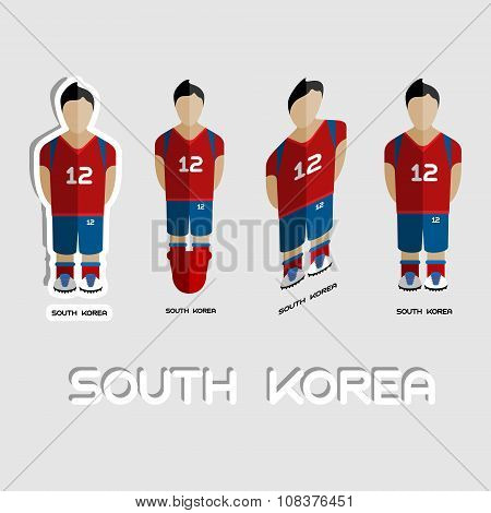 South Korea Soccer Team Sportswear Template