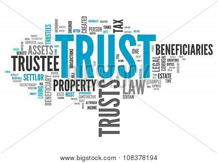 Image Graphic Wordcloud with Trust related tags poster