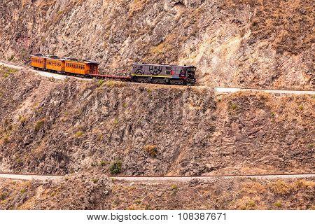 Train Follows His Zig Zag Journey