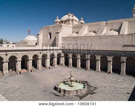 Courtyard Of The Church Of The Company Of Jesus