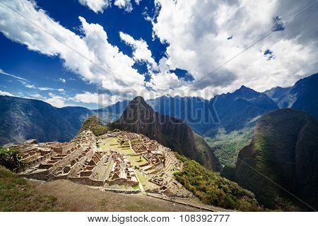 Macchu Picchu old town on a sunny day