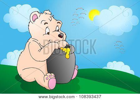 honey bear in nature