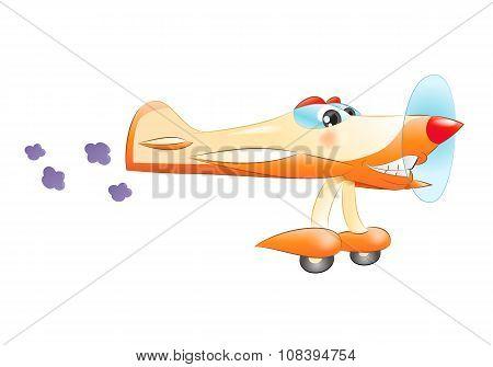 Commercial Propeller Plane Flying