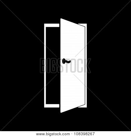 The door icon. Exit and login  symbol. Flat Vector illustration poster