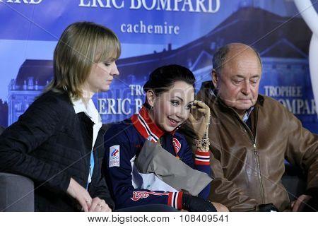 Elizaveta Tuktamysheva (rus) And Her Coaches Alexey Mishin, Tatiana Prokofieva