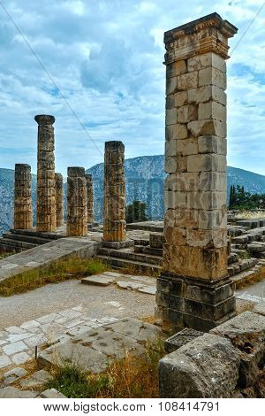 Excavations Of The Ancient Delphi City (greece)