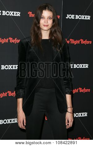 NEW YORK-NOV 16: Model Diana Moldovan attends the New York Red Carpet screening of Columbia Pictures'