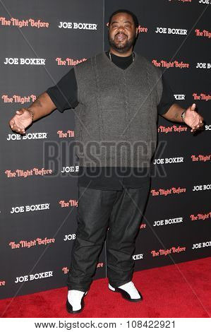 NEW YORK-NOV 16: Actor Grizz Chapman attends the New York Red Carpet screening of Columbia Pictures'