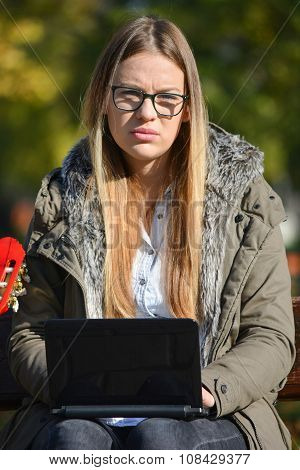 Young Girl And Lap Top