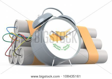 Time Bomb With Cypriot Flag