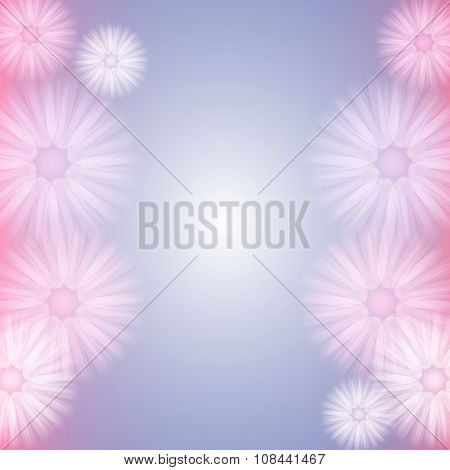 Background With Abstract Pastel Flowers