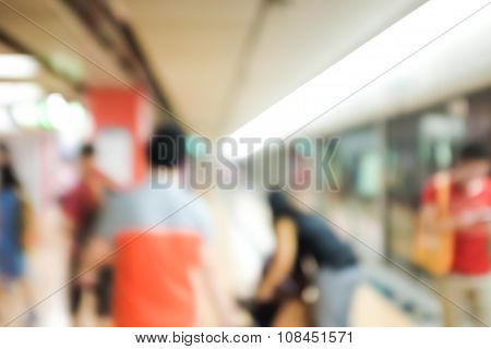 Blurred Image For Background Of Hongkong Mtr Transit
