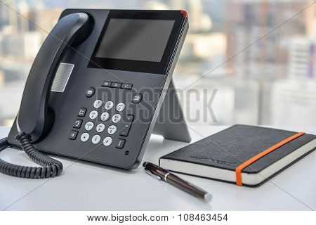 IP Phone And Notebook