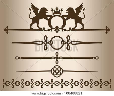 Decorative elements - Griffins.
