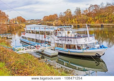Boat / Ship Ms Wilhelma, Stuttgart