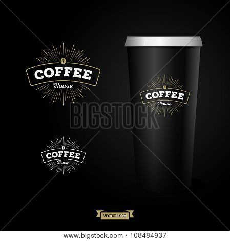 Coffee Logo With Paper Cup