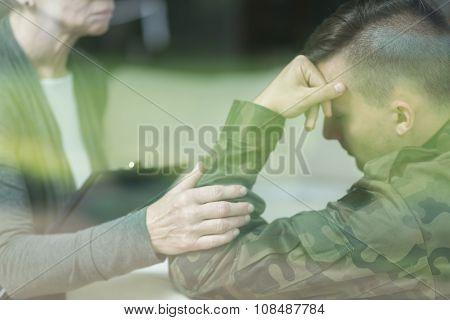 War Veteran With Stress Disorder