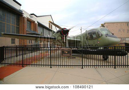 Grumman OV-1B Mohawk 1960 Vietnam reconnaissance aircraft  on display