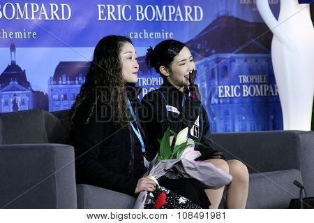 Haruka Imai (r) (jpn) And Her Coach Rumiko Michigami