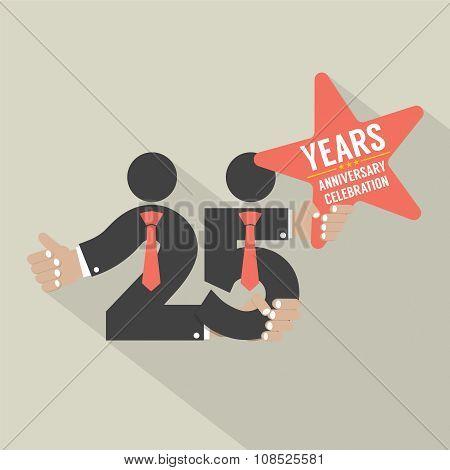 25 Years Anniversary Typography Design.