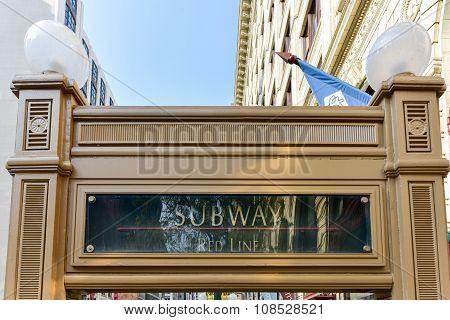 Chicago Cta Subway Entrance