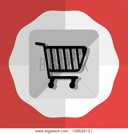 Shopping cart Round icon graphic
