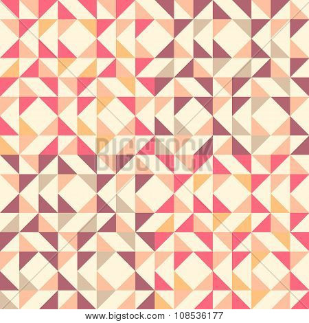 Geometric Seamless Pattern Background With Triangle Trapezoid And Square.