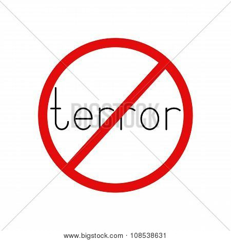 Terror Prohibition Sign