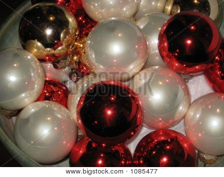 Red & White Christmas Ornaments