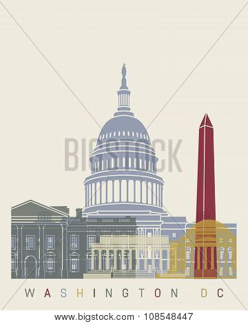 Washington Dc Skyline Poster