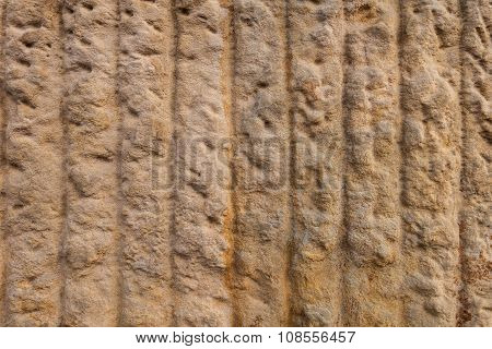 Texture of sandstone with vertical lines