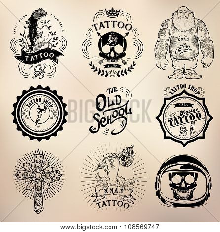Tattoo old school studio skull